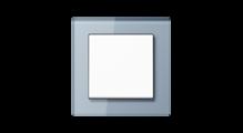 Стеклянная рамка в серо-голубом, накладка в белом цвете