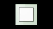 Стеклянная рамка в матовом белом, накладка в белом цвете