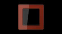 Стеклянная рамка в красном, накладка в черном цвете